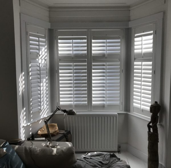 Full Height Plantation Shutters with Mid Rail 2