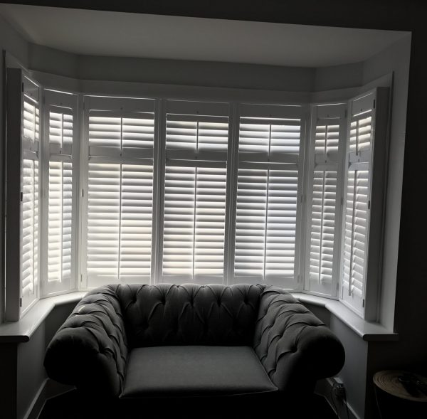 Full Height Window Shutters For Round Bay Window 6